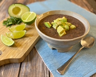 Black bena soup